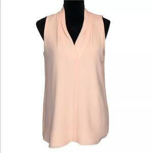 Calvin Klein Medium Top Peach Blouse Lined